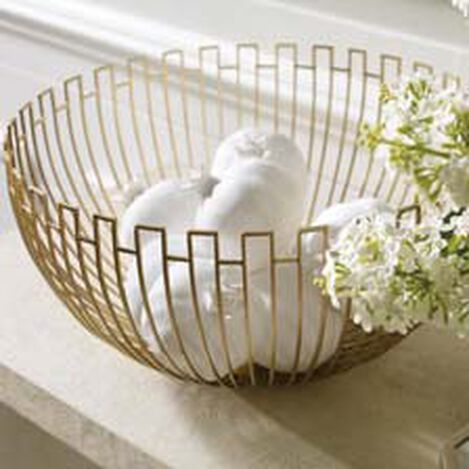 Brass Geometric Wire Bowl Product Tile Hover Image geometricbowl