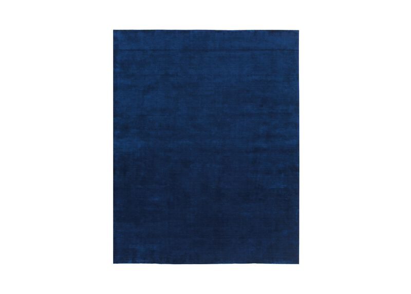 Loomed Wool Rug, Navy
