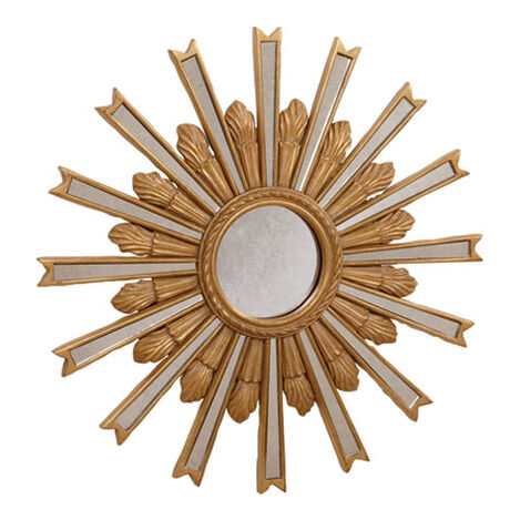 "20"" Gold Starburst Mirror Product Tile Image 074077A"
