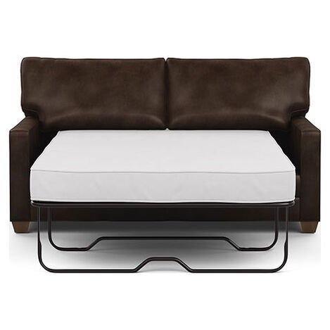 Bennett Track-Arm Leather Full Sleeper Sofa Product Tile Image 737112