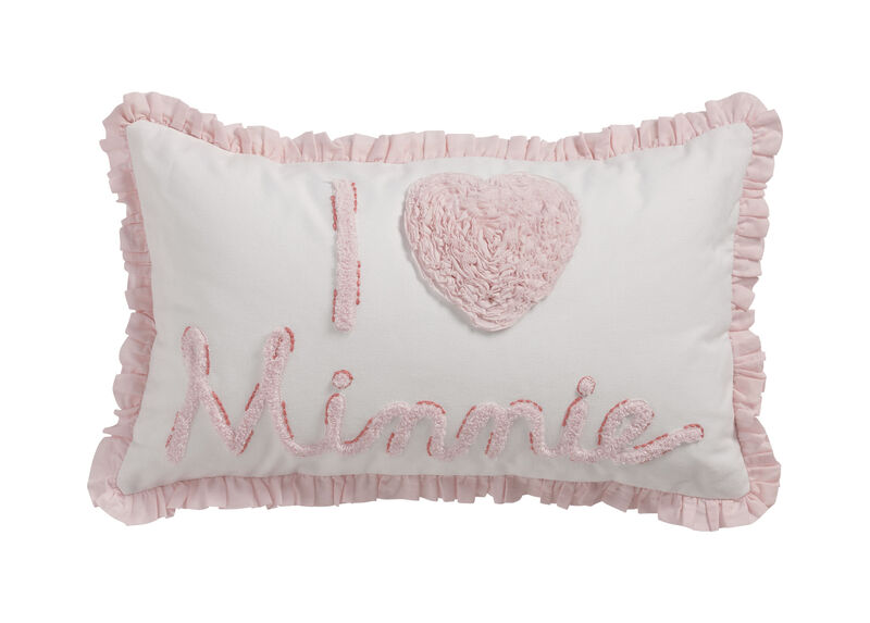 Really Ruffle Minnie Boudoir Pillow, Petal