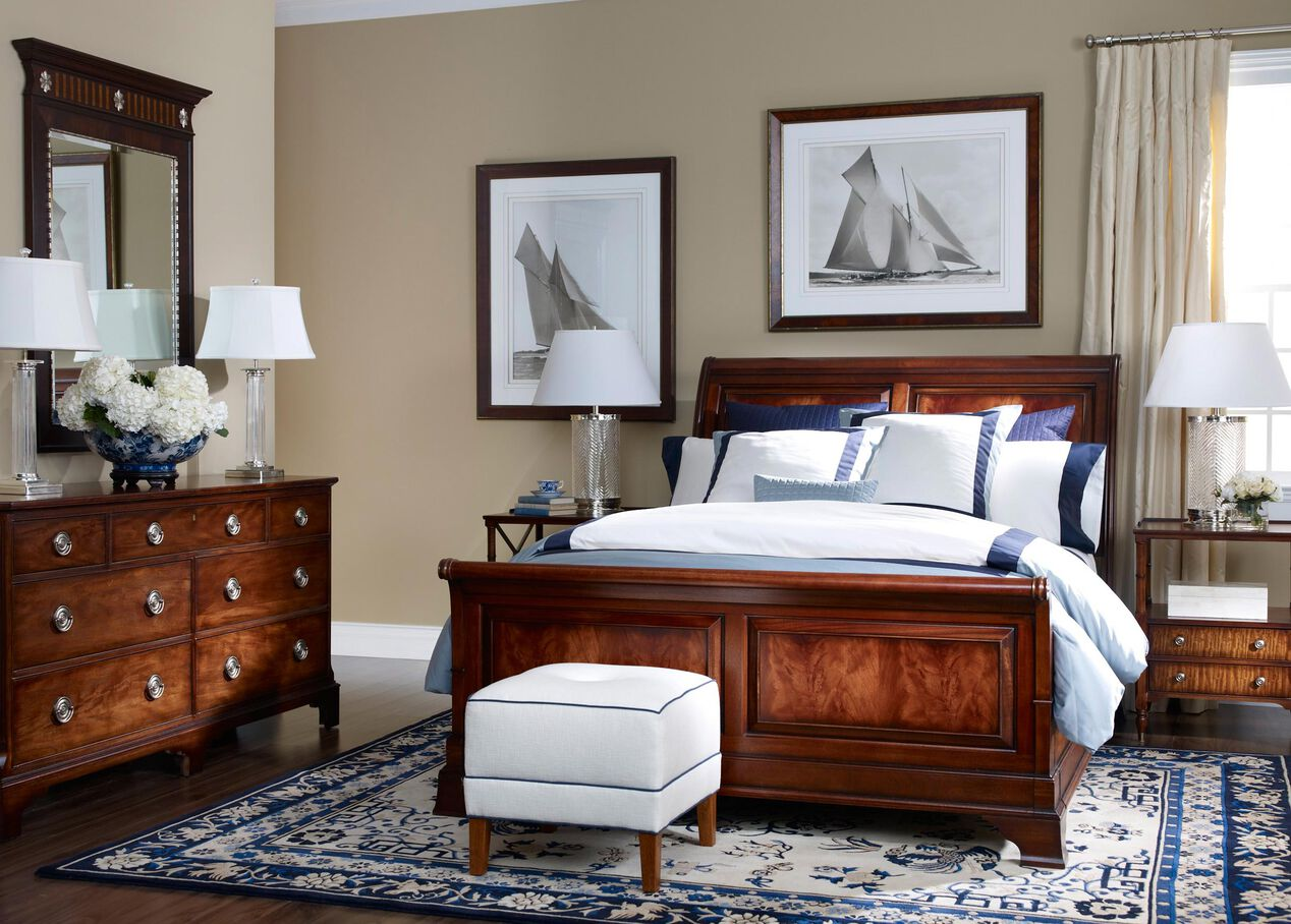 Eugene Night Table | Ethan Allen Two-Drawer Night Stand ...