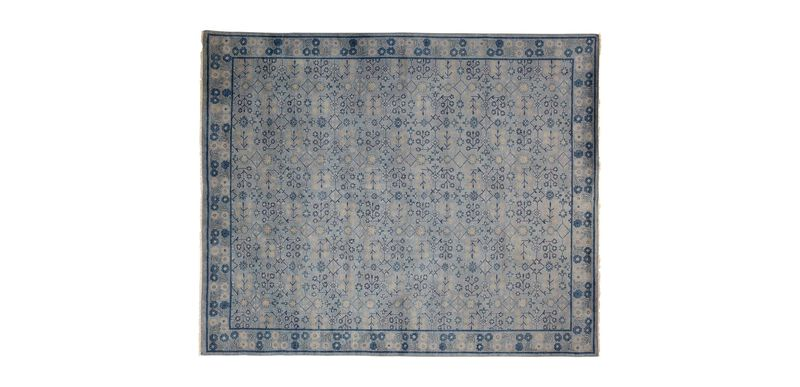 Khotan Rug, Gray/Blue