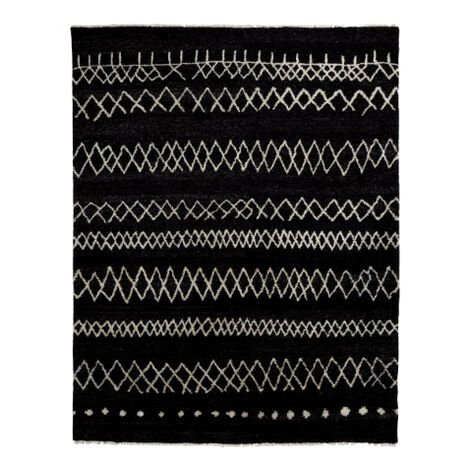 Intrinsik Rug, Black/Ivory ,  , large