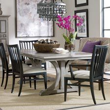 Superior ... Large Corin Rough Sawn Trestle Extension Dining Table , , Hover_image