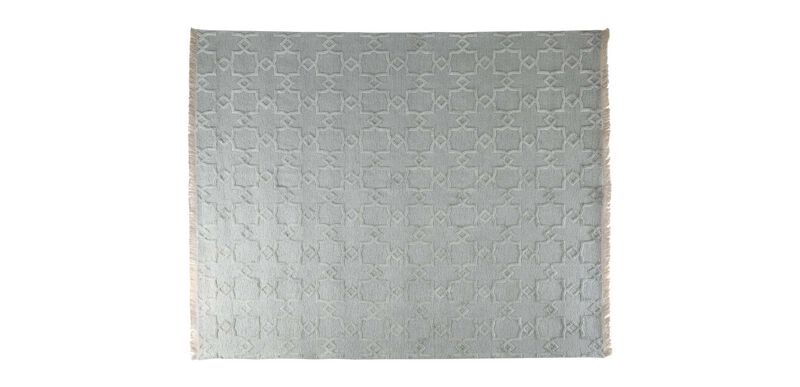 Lattice Soumak Rug, Seafoam