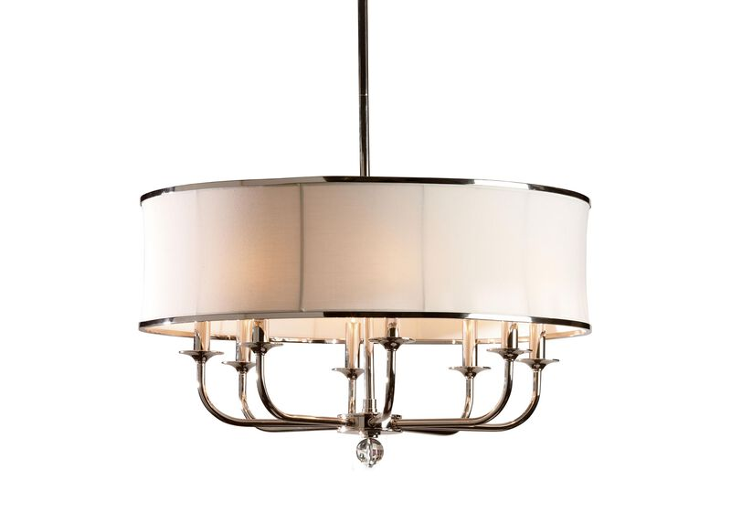Zoe Eight-Light Nickel Chandelier