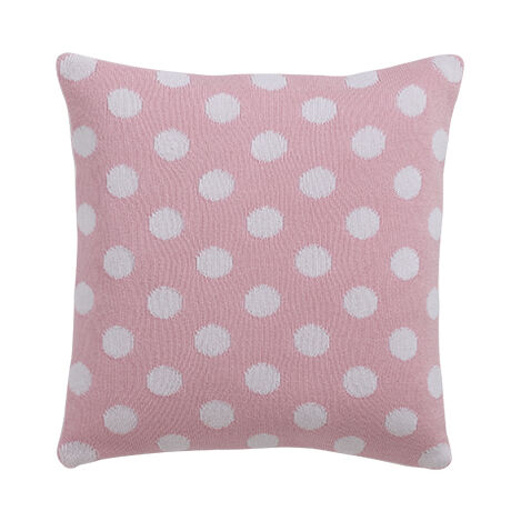 Dotty Knit Pillow, Petal ,  , large