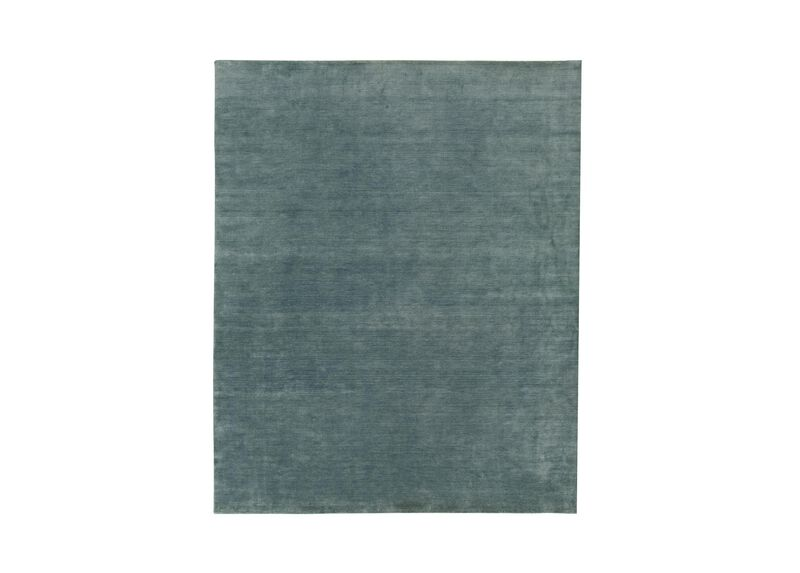 Loomed Wool Rug, Seafoam