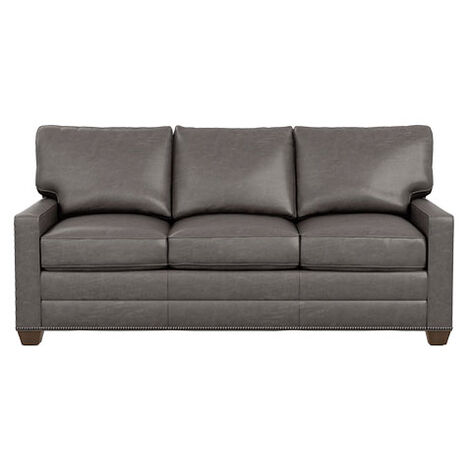 Bennett Track-Arm Leather Three Seat Sofa ,  , large