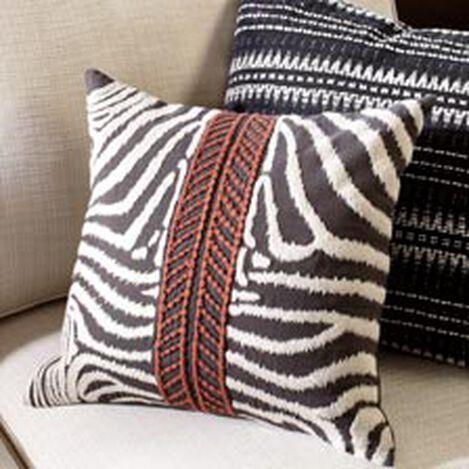 Modern Banded Zebra Pillow ,  , hover_image