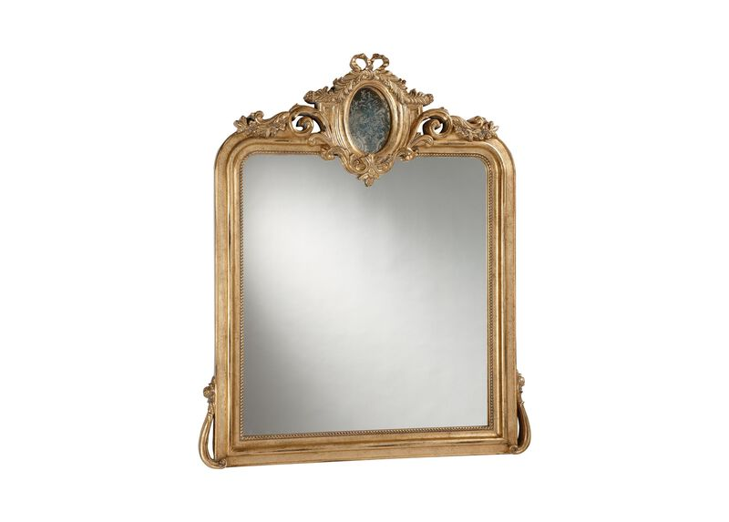 Aged Gold Provincial Mirror ,  , large_gray