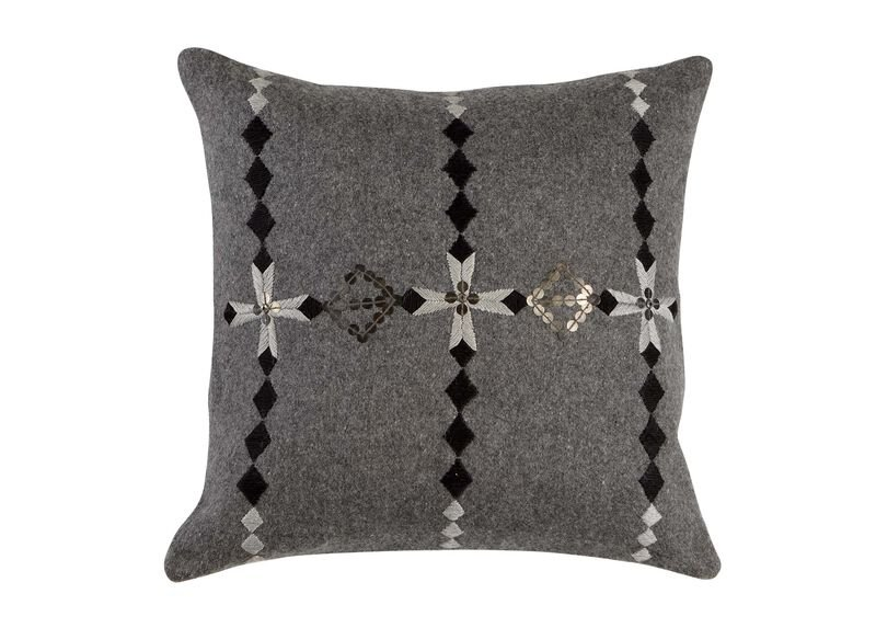 Modern Gray Embellished Pillow ,  , large_gray