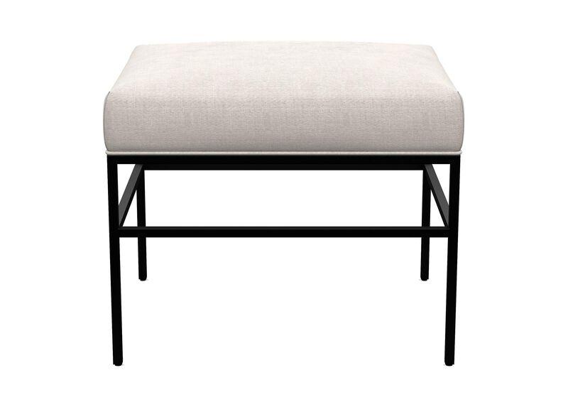 Ferri Upholstered Pullup Metal Ottoman