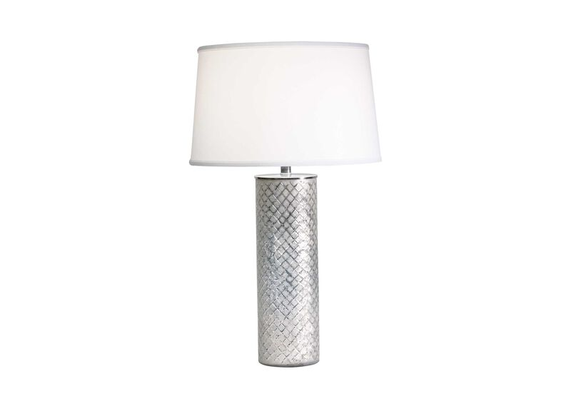 Lattice Glass Table Lamp ,  , large_gray