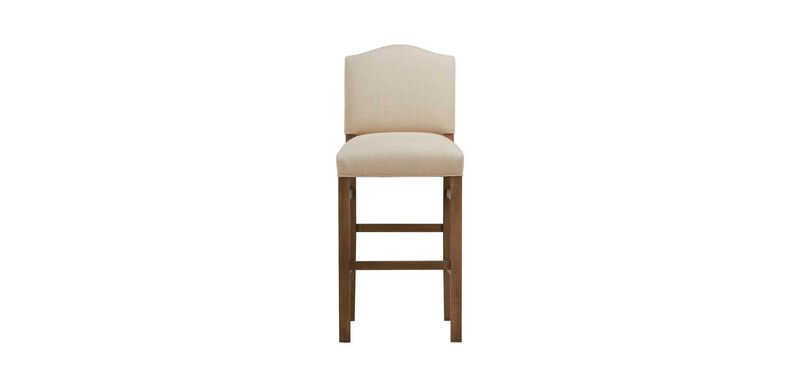 Hadley Barstool, Arched Top and Square Leg