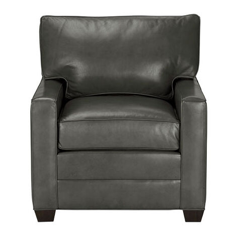 Bennett Track-Arm Leather Chair, Quick Ship Product Tile Image 677111