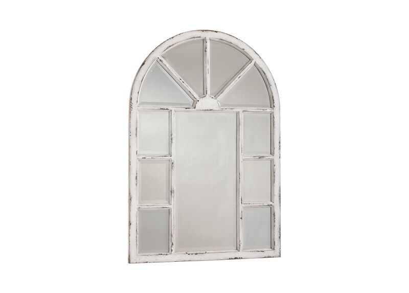 Antique White Cypress Wall Mirror ,  , large_gray