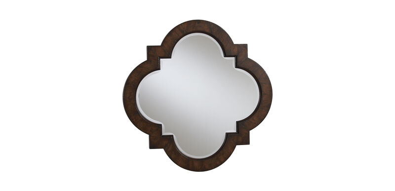 Dark Quatrefoil Mirror