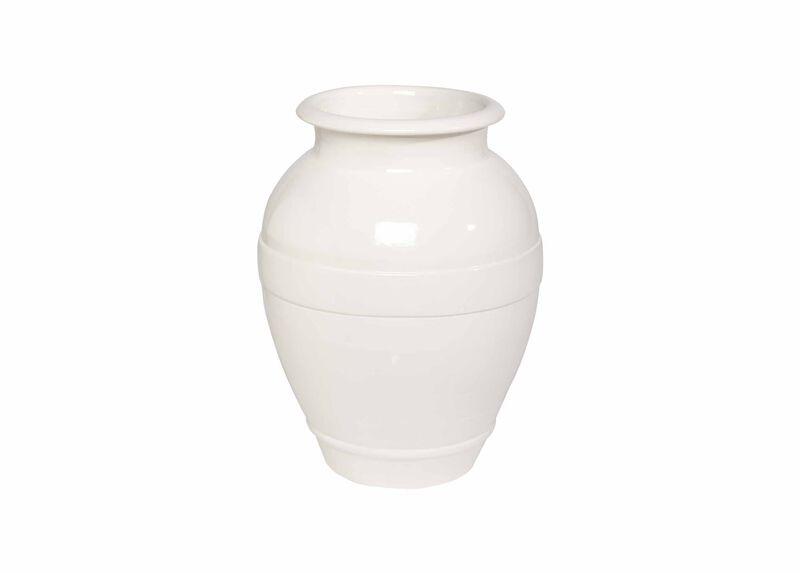 Ivory Ringed Vase