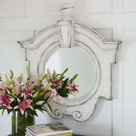 Antique White Gisele Mirror ,  , hover_image