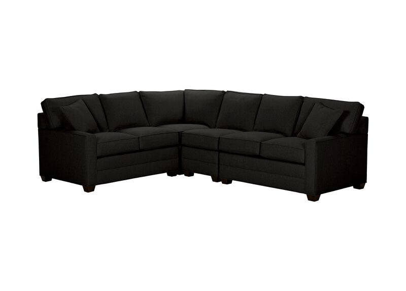Bennett Track-Arm Four Piece Sectional, Quick Ship , Hailey Charcoal (Q1055), solid texture , large_gray