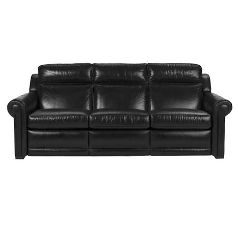 Johnston Roll-Arm Leather Incliner Sofa ,  , large