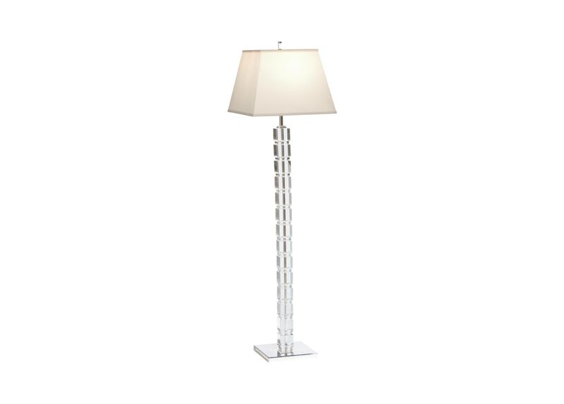 Crystal blocks floor lamp floor lamps ethan allen crystal blocks floor lamp mozeypictures Choice Image
