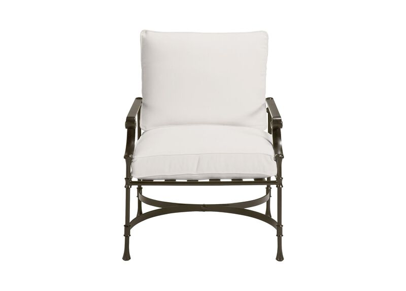 Biscayne Club Chair , Kean White (P8430) , large_gray