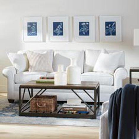 Shop Sofas And Loveseats Leather Couch Ethan Allen - Conversation sofa ethan allen bennett roll arm