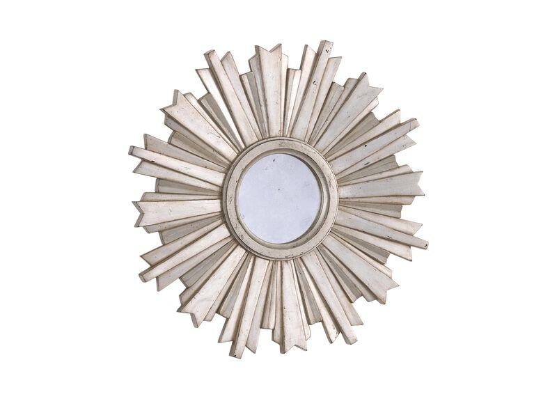 Mini Silver Starburst Mirror