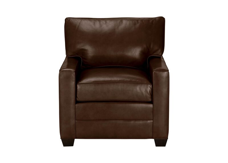 Bennett Track-Arm Leather Chair, Quick Ship ,  , large_gray