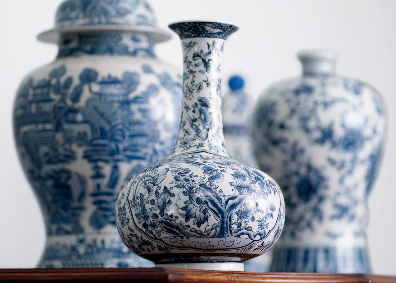 Blue And White Porcelain Vase Vases Ethan Allen