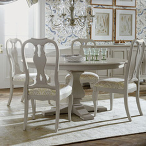 round dining table pedestal quick ship shop dining room tables kitchen round table ethan