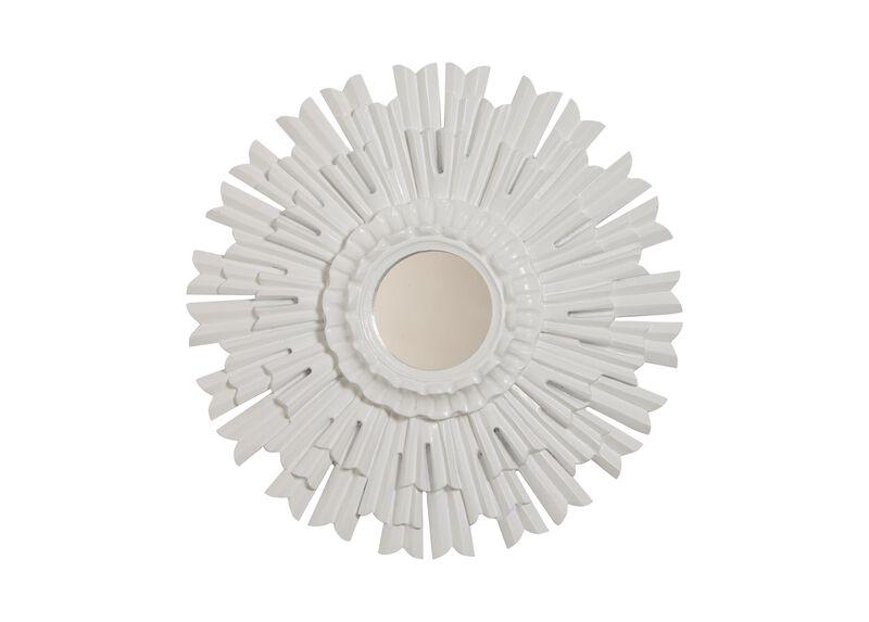 """20"""" White Sunburst Mirror"""