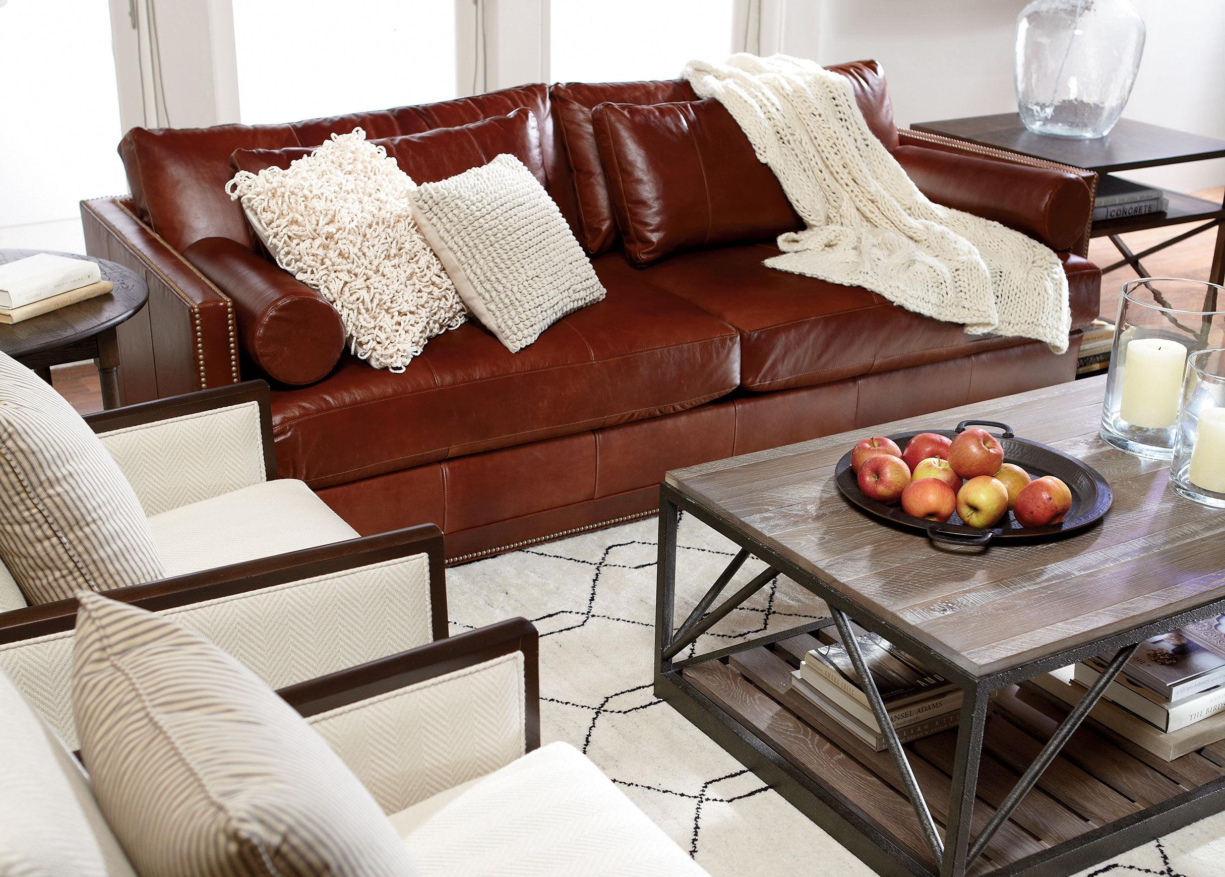 Abington Leather Sofa Sofas Loveseats
