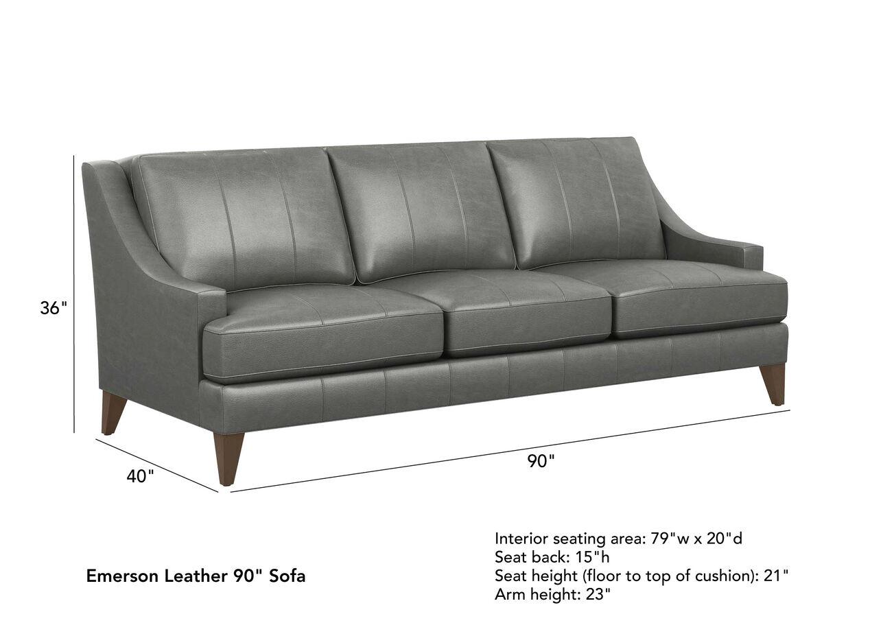 Emerson Leather Sofa Quick Ship 2