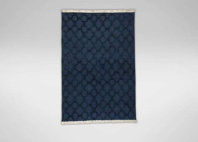 Lattice Soumak Rug, Navy ,  , large_gray