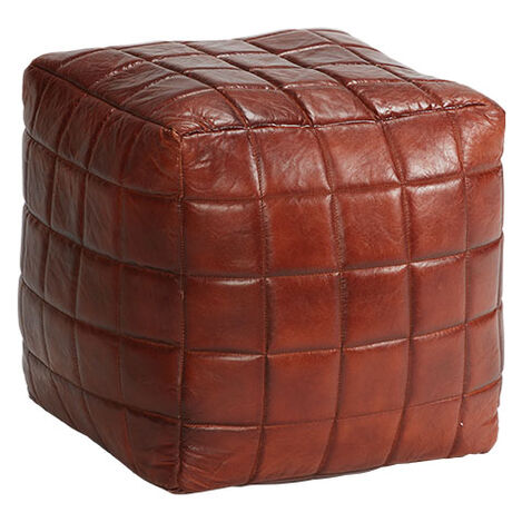 Theron Leather Pouf Product Tile Image 421853