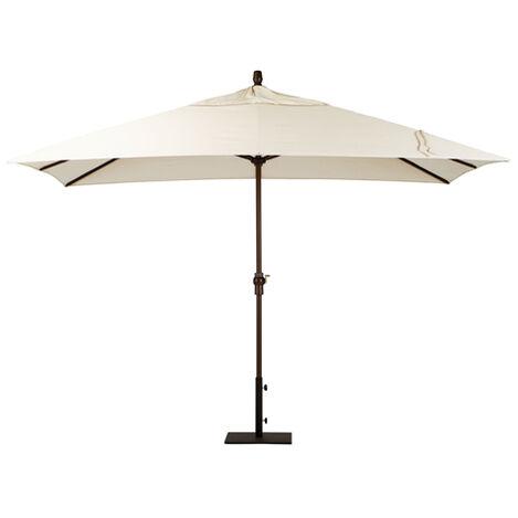 Ivory Rectangular Market Umbrella, Onyx ,  , large