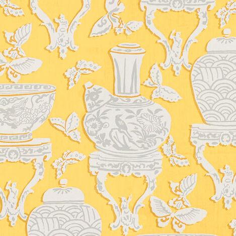 Ginger Jar Daffodil Fabric ,  , large