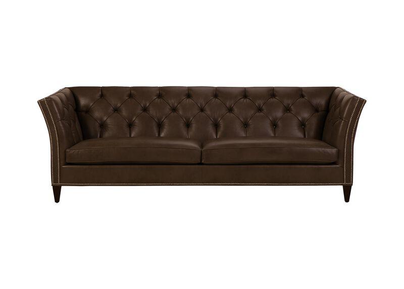Shelton Leather Sofa, Quick Ship ,  , large_gray