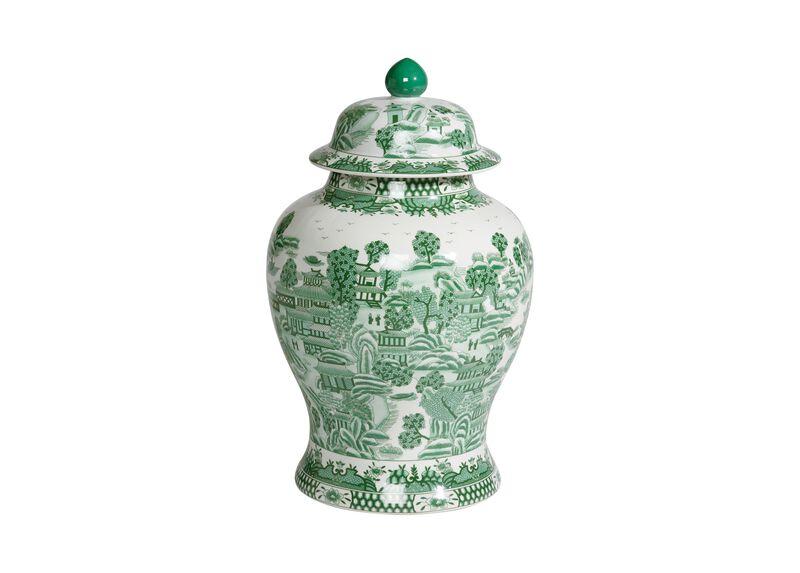 Large Green Ginger Jar ,  , large_gray