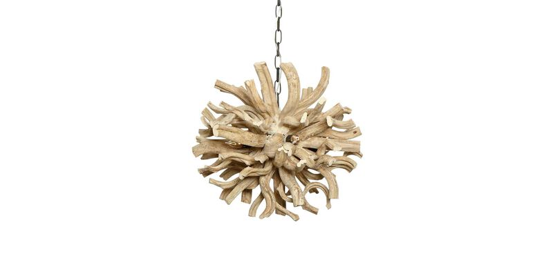 Small Minetto Wood Chandelier