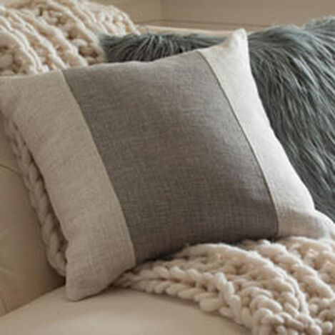Ivory/Gray Color Block Pillow ,  , hover_image