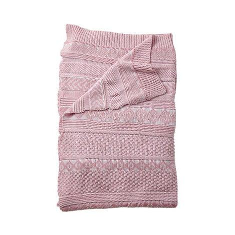 Sweater Stitch Knit Stroller Blanket Product Tile Image 035512
