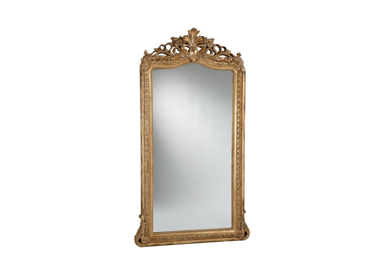 aged gold luxe floor mirror mirrors ethan allen. Black Bedroom Furniture Sets. Home Design Ideas