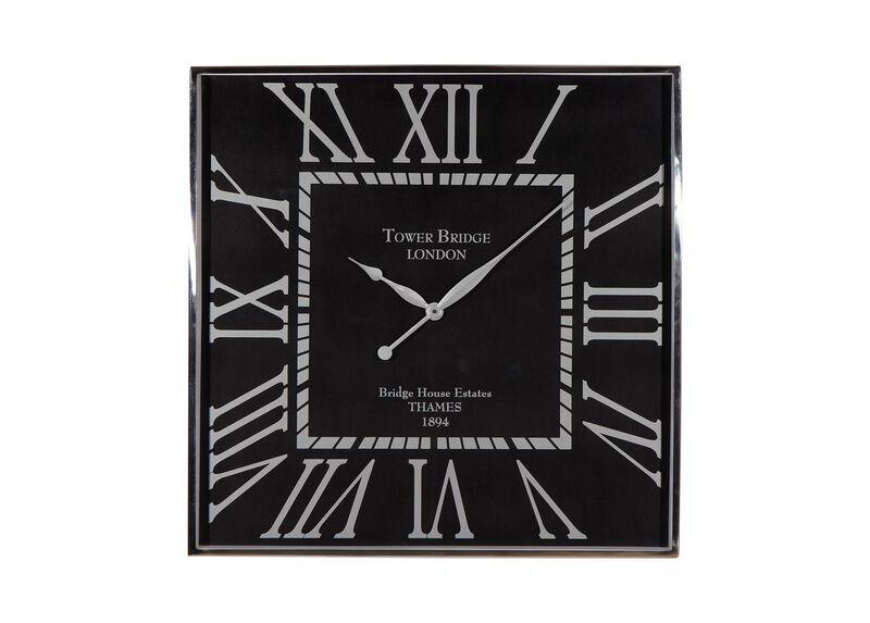 Nickel and Black Wall Clock