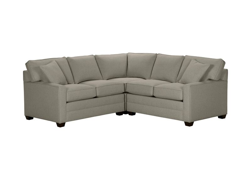 Bennett Track-Arm Three Piece Sectional, Quick Ship , Hailey Slate (Q1054), solid texture , large_gray