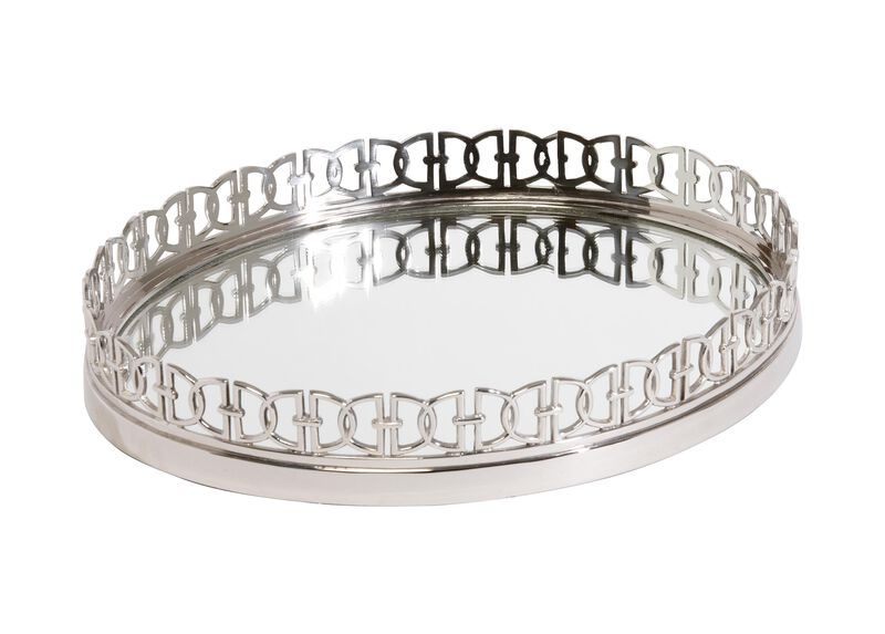 Nickel Oval Link Tray